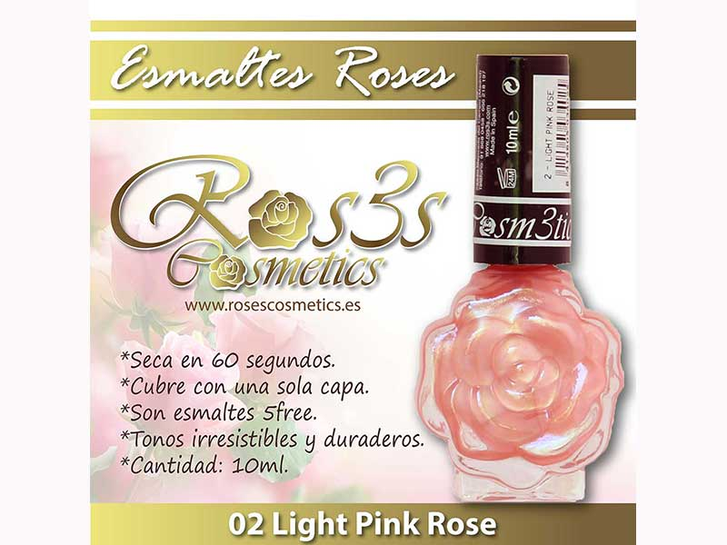 Esmalte Roses: 02 LIGHT PINK ROSE