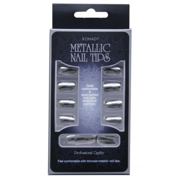 Konad Metallic Nail Tips Silver