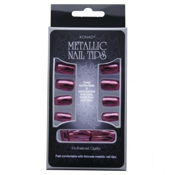 Konad Metallic Nail Tips Pink