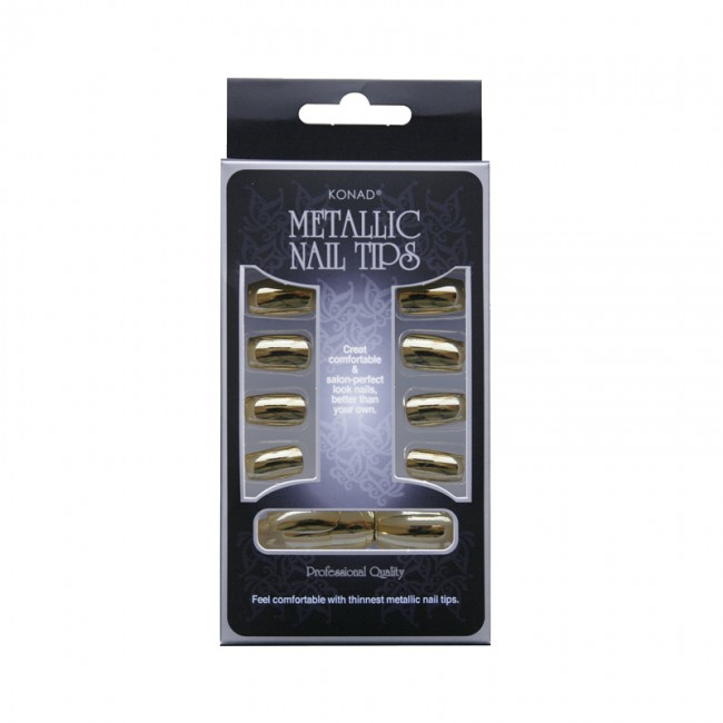 Konad Metallic Nail Tips Gold