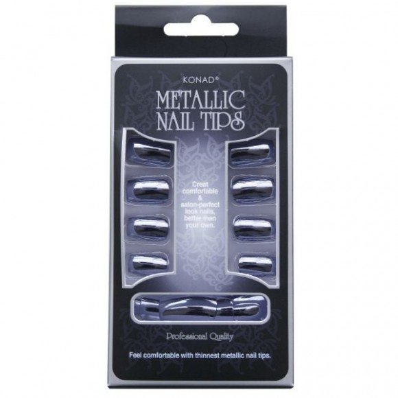 Konad Metallic Nail Tips Blue