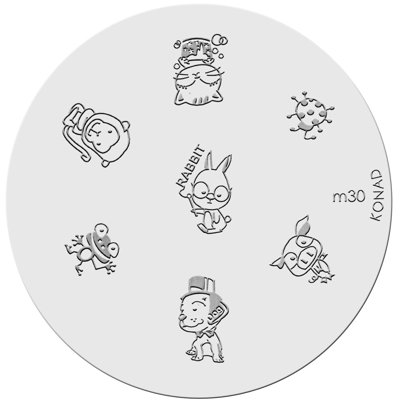 Placa de diseños KONAD. m30