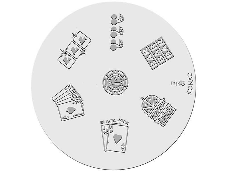 Placa de diseños KONAD. m48