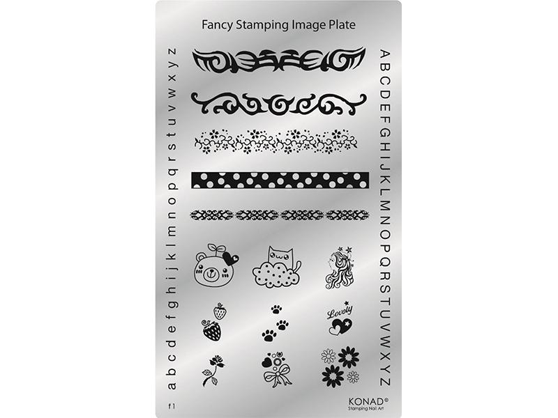 Placa de diseños Fancy. F01