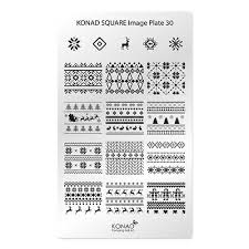 Placa de diseños rectangular KONAD. c30