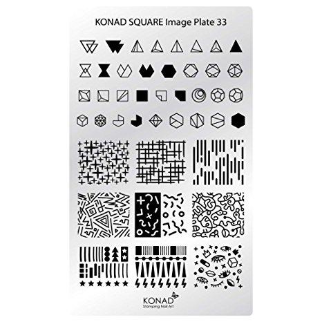 Placa de diseños rectangular KONAD. c33