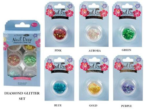 Set Konad Pro Nail Deco Diamond Glitter Blue