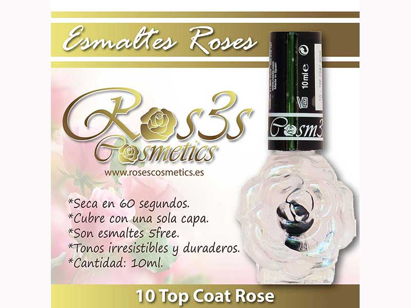Top Coat de uñas- Roses Cosmetics