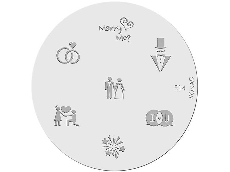 Placa de diseños KONAD. s14