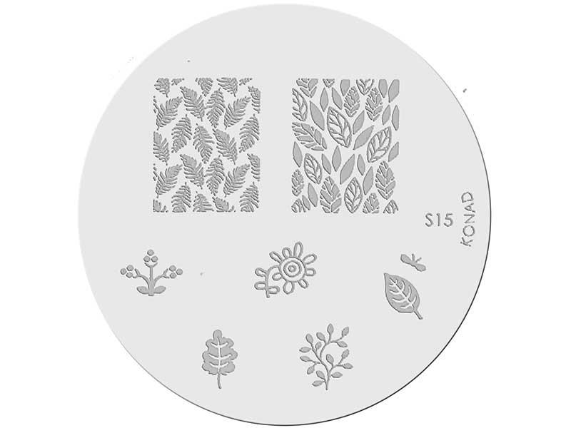 Placa de diseños KONAD. s15