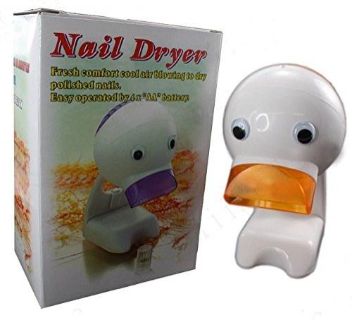 Patito secador de uñas