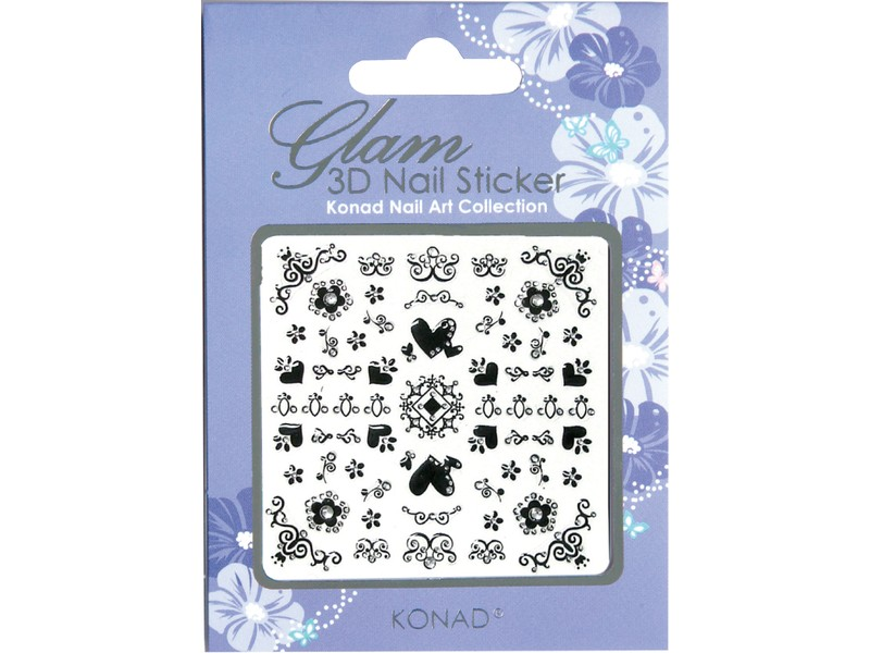 Glam sticker 3D para uñas K3D-B02