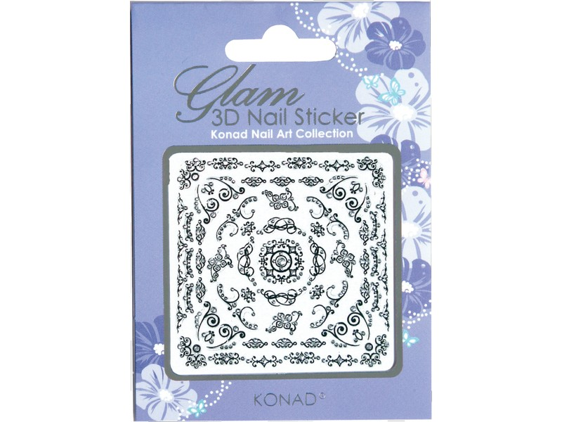 Glam sticker 3D para uñas K3D-B03