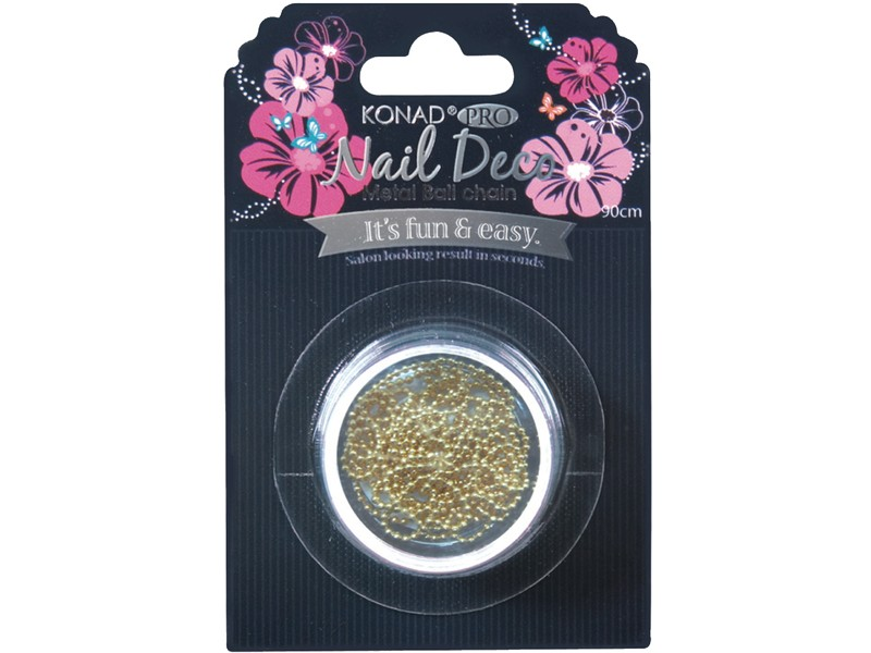 Pro Nail Deco Metal Ball Chain Gold