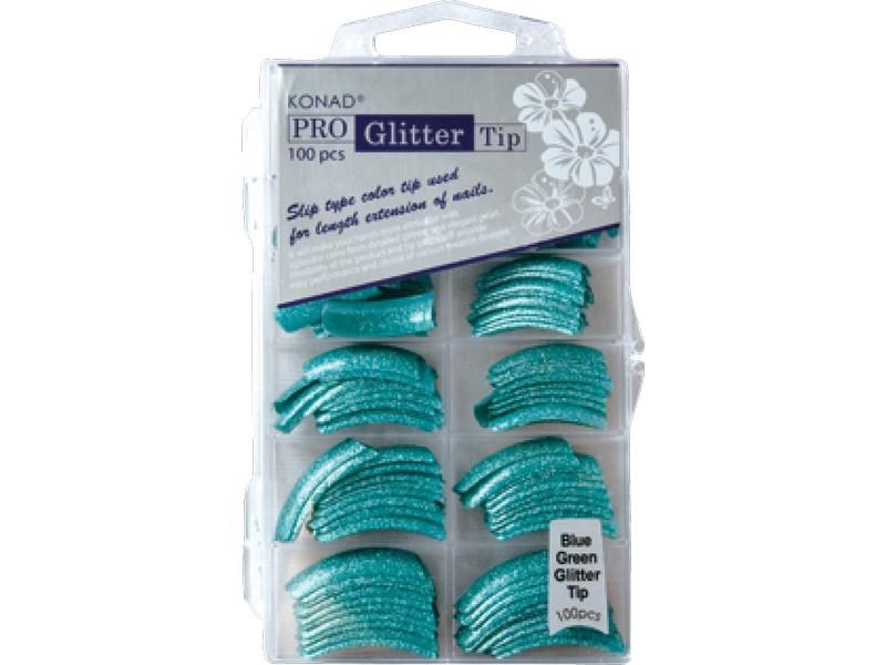 Pro Glitter 100 tip - Blue Green